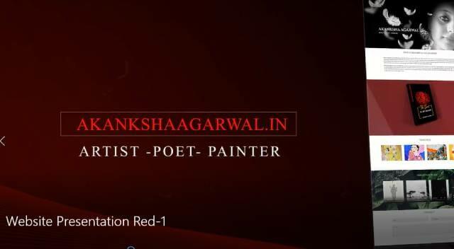 Website Presentation Red